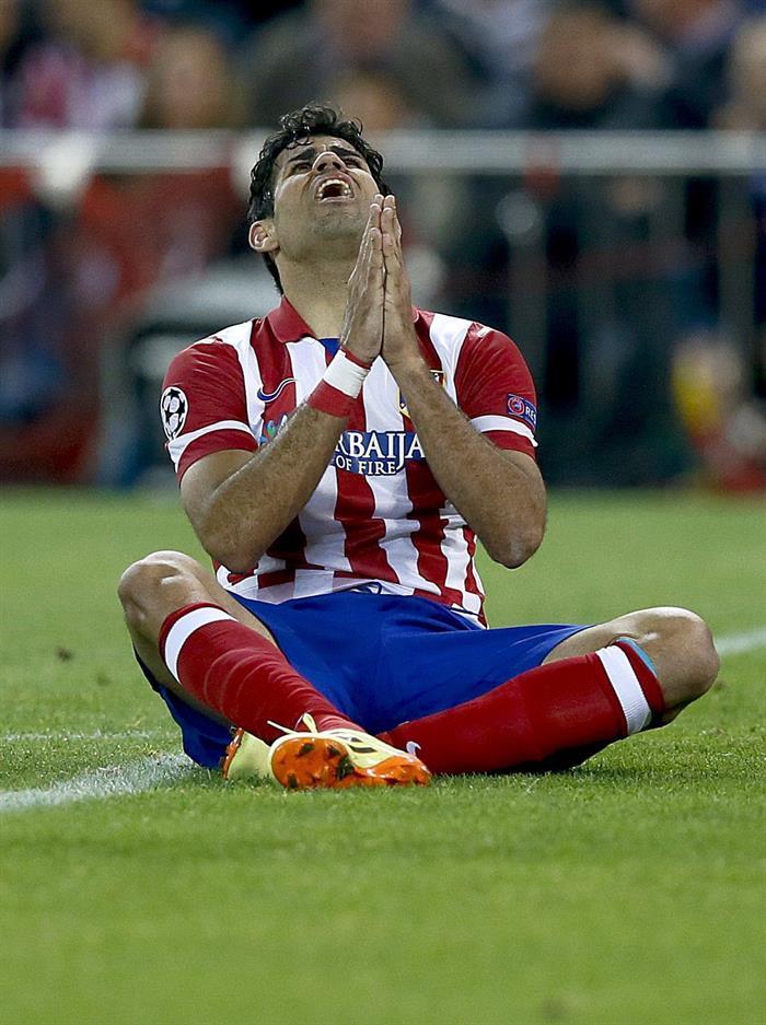 El delantero del Atlético de Madrid Diego Costa, durante el partido de ida de las semifinales de la Liga de Campeones. Foto: EFE