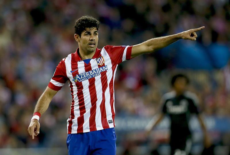 El delantero del Atlético Madrid, Diego Costa, durante el partido de ida de semifinales de la Liga de Campeones. Foto: EFE