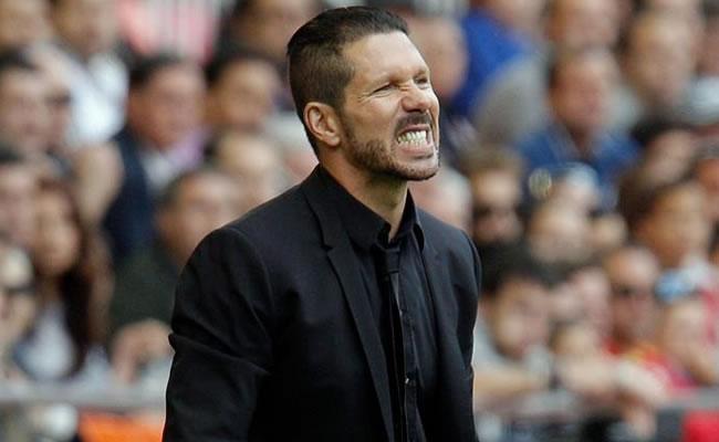 El entrenador del Atlético de Madrid, Diego Simeone. Foto: EFE