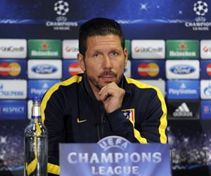 """Simeone cree en el """"entusiasmo"""" del Atlético ante la experiencia del Chelsea"""