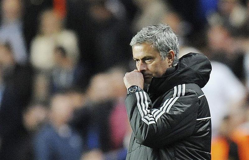 El entrenador de Chelsea, el portugués José Mourinho, durante el partido de vuelta de semifinales de la Liga de Campeones. Foto: EFE