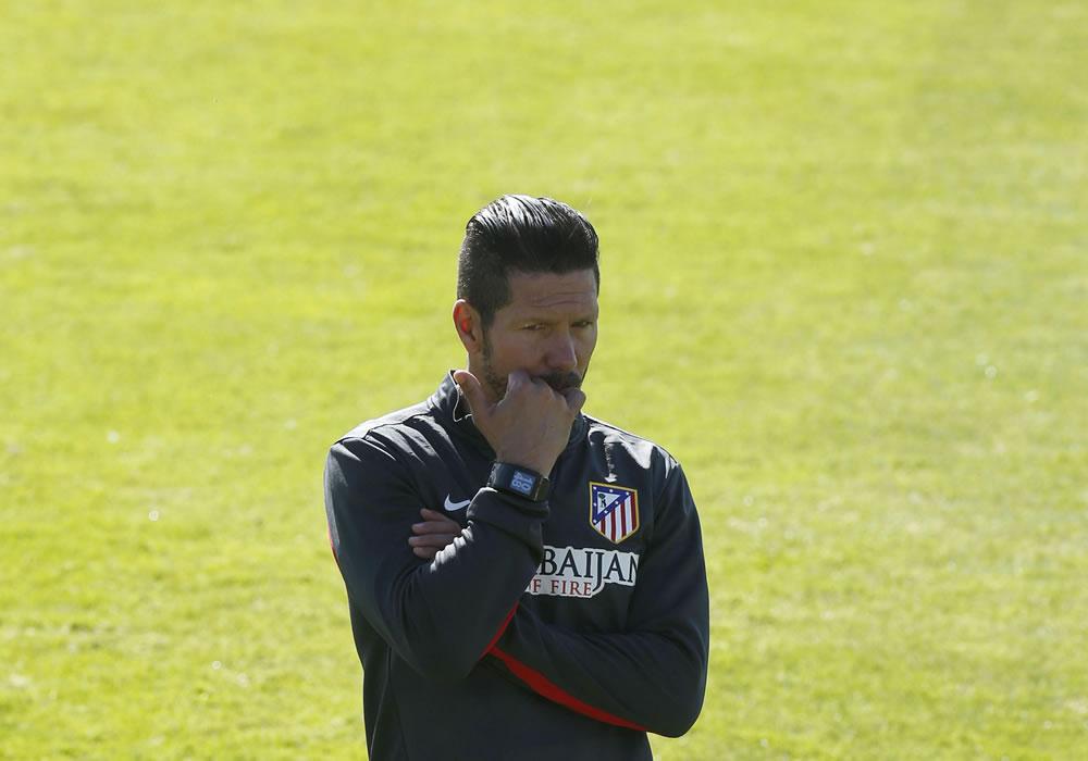 El DT argentino del Atlético de Madrid Diego Simeone. Foto: EFE