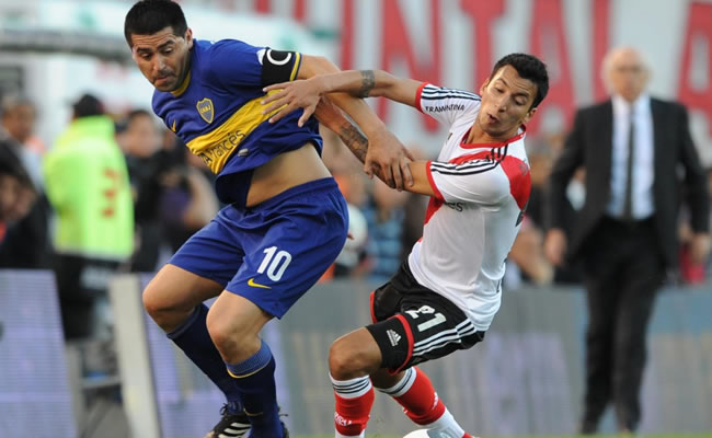 River y Boca con equipos titulares en estadio Azteca, afirman organizadores. Foto: EFE