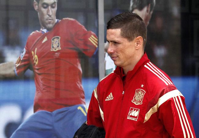 El jugador Fernando Torres, momentos antes de una rueda de prensa ofrecida en la Ciudad del Fútbol de Las Rozas con motivo del partido amistoso de la Roja en Sevilla frente a Bolivia. Foto: EFE