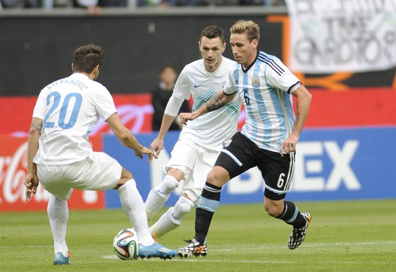 El jugador Lucas Biglia de Argentina. Foto: EFE
