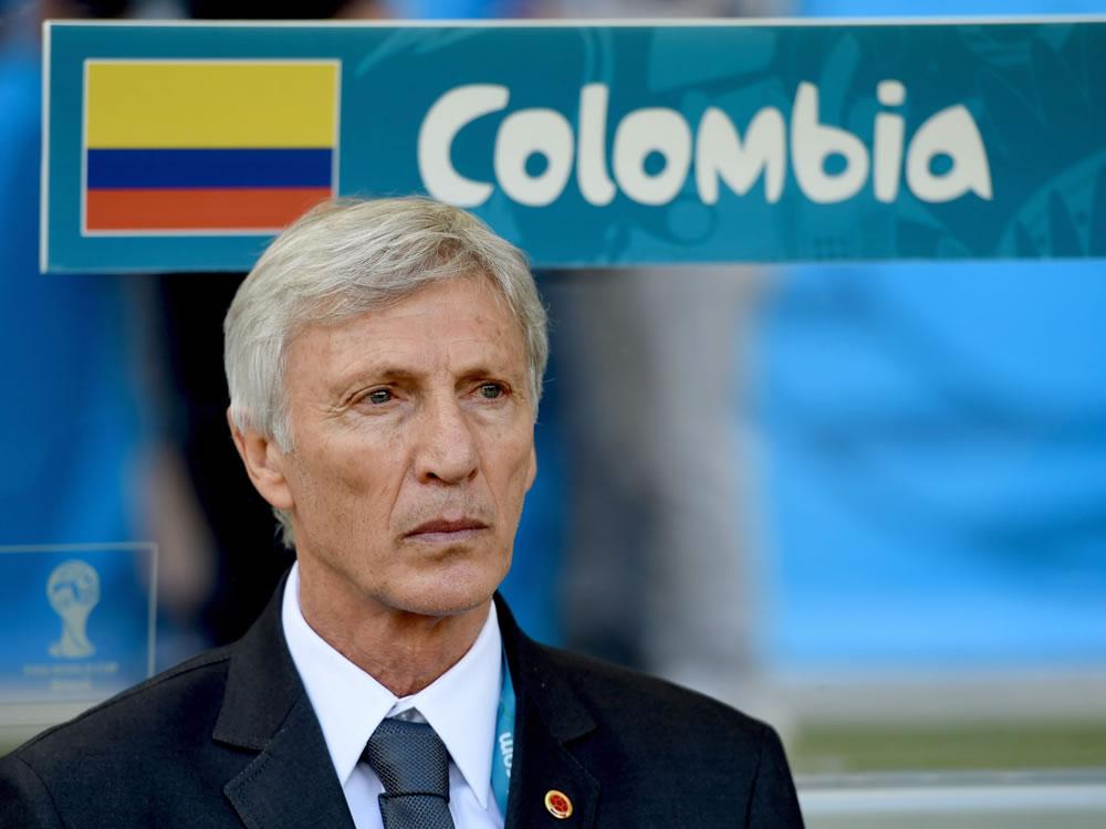 El DT argentino de la selección Colombia, José Pekerman, durante el partido Colombia - Grecia, del Grupo C del Mundial. Foto: EFE