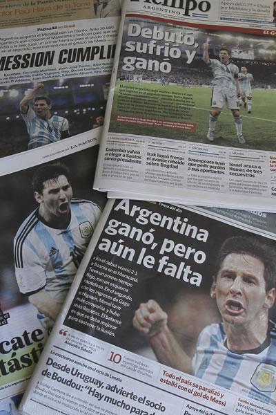 Las portadas de los principales periódicos argentinos celebran la victoria