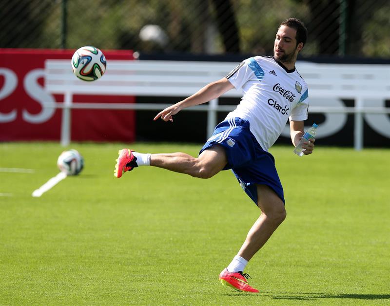 El delantero de la selección argentina, Gonzalo Higuaín. EFE