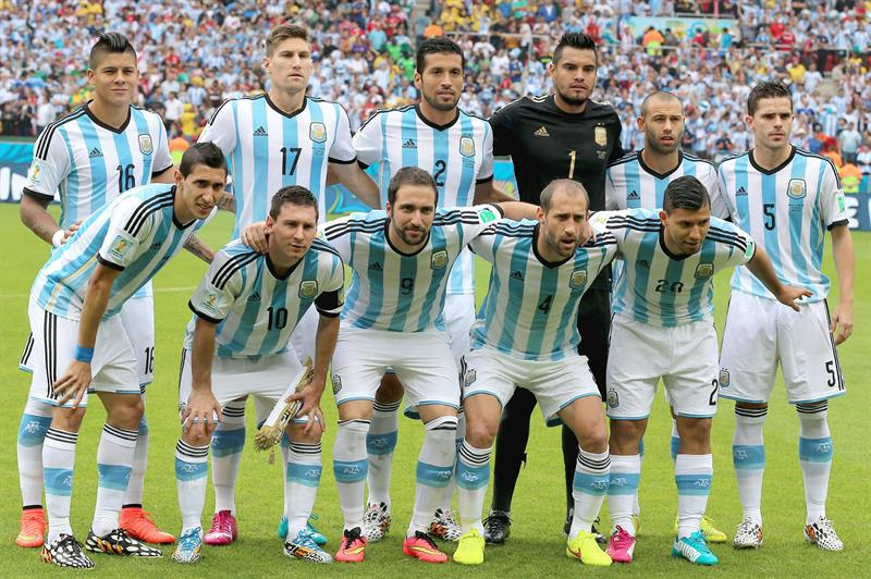 The starting eleven of Argentina prior to the FIFA World Cup 2014 group F. EFE