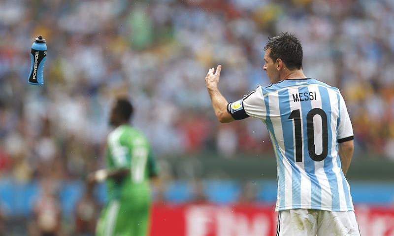 El delantero argentino Lionel Messi durante el partido Nigeria-Argentina, del Grupo F del Mundial. Foto: EFE