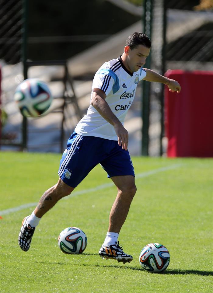Alejandro Sabella pone prioridad a la recuperación física en la previa ante Suiza. Foto: EFE