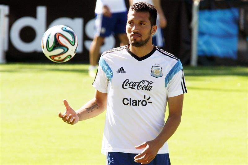 El jugador de la selección Argentina Ezequiel Garay. EFE