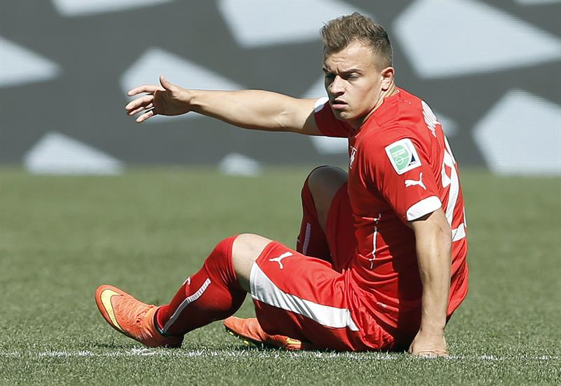 Xherdan Shaqiri of Switzerland reacts during the FIFA World Cup 2014. EFE