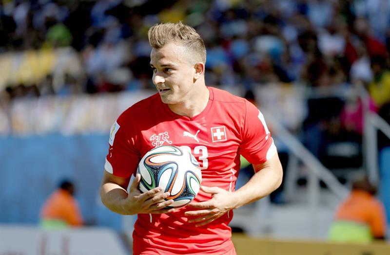 Xherdan Shaqiri of Switzerland during the FIFA World Cup 2014. EFE