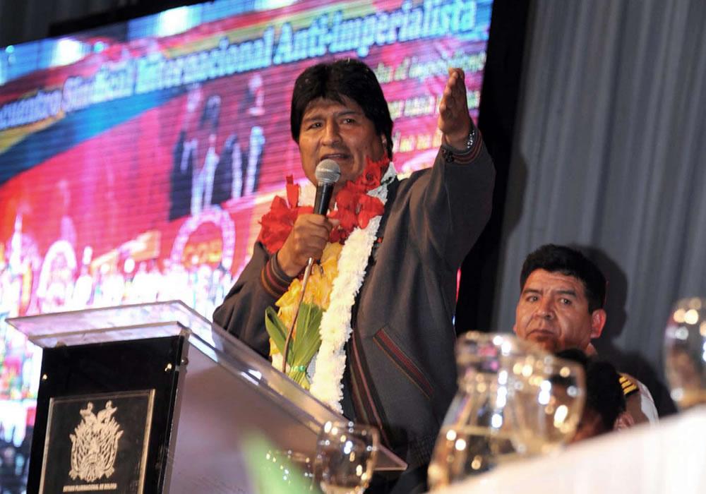 Fotografía cedida por la Agencia Boliviana de Información (ABI) del presidente de Bolivia, Evo Morales. Foto: EFE