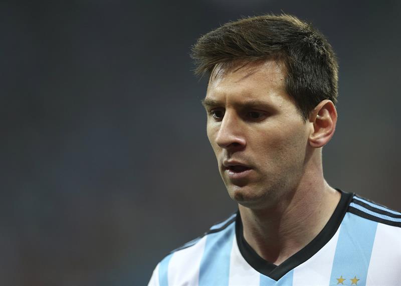 El delantero argentino Lionel Messi durante el partido Holanda-Argentina, de semifinales del Mundial de Fútbo. EFE