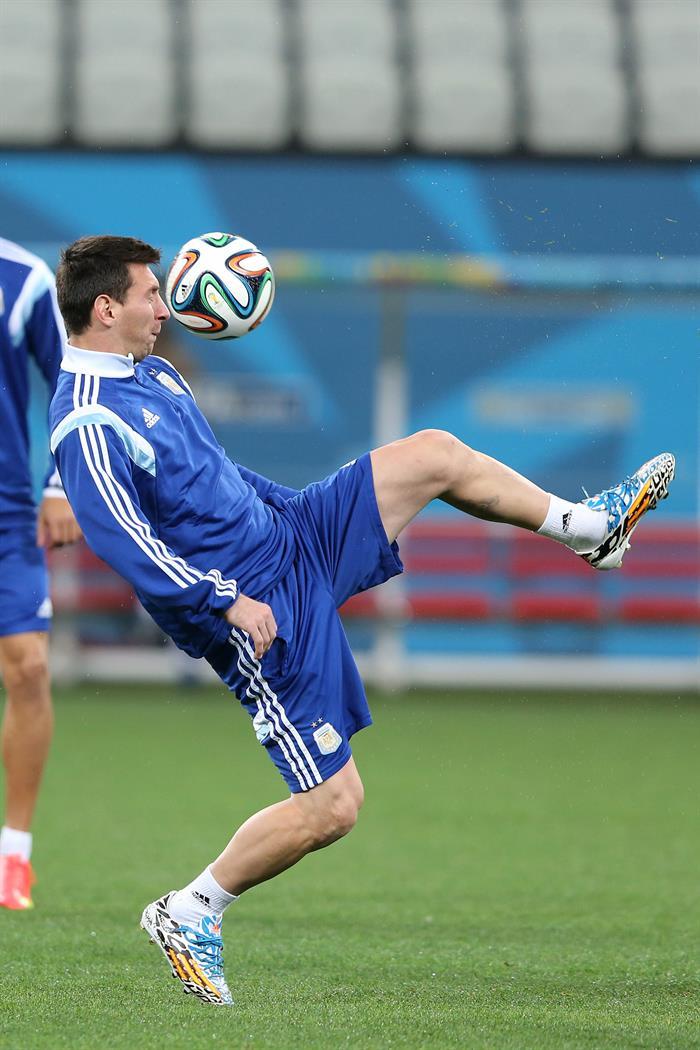 El jugador Lionel Messi de la selección de Argentina. EFE