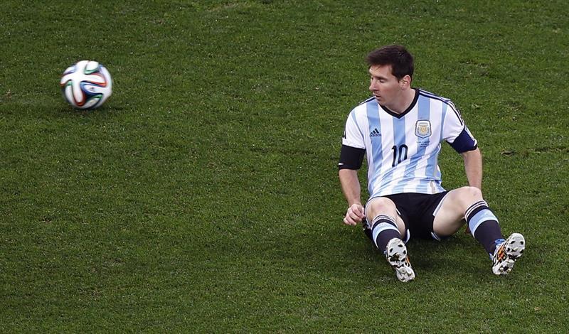 El delantero argentino Lionel Messi durante el partido Holanda-Argentina, de semifinales del Mundial. EFE