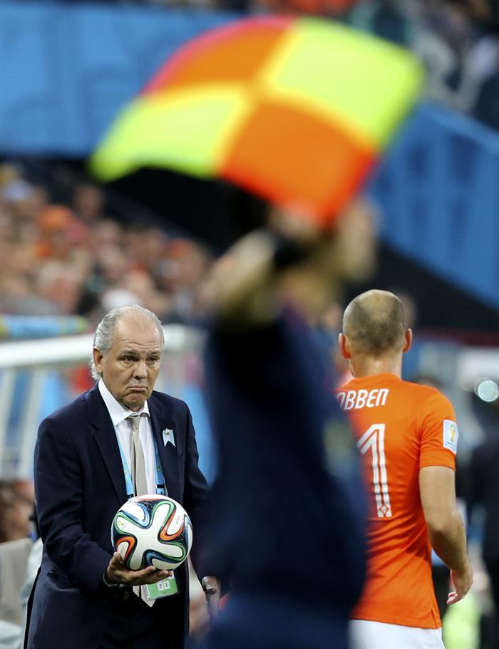 El entrenador de la selección argentina Alejandro Sabella. EFE