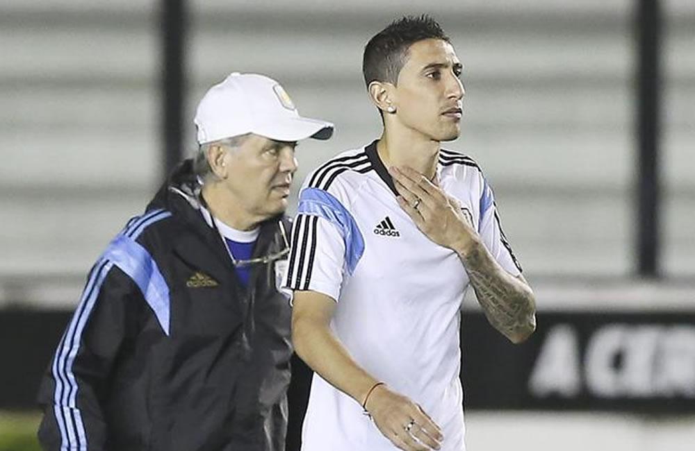 Di María se resintió de su lesión y tiene difícil jugar la final. EFE