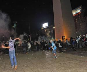 Entre los detenidos por los disturbios, hinchas de Chacarita e Independiente