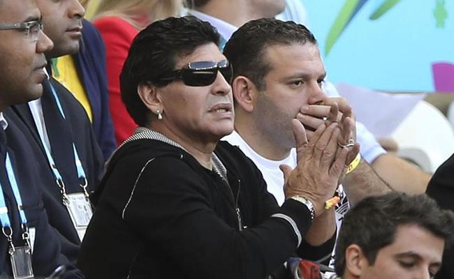 El exfutbolista argentino Diego Armando Maradona. Foto: EFE