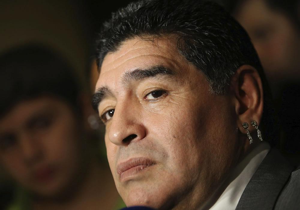 """Maradona dice que a Argentina le fue mal """"con el grondismo"""" y pide a Menotti. Foto: EFE"""