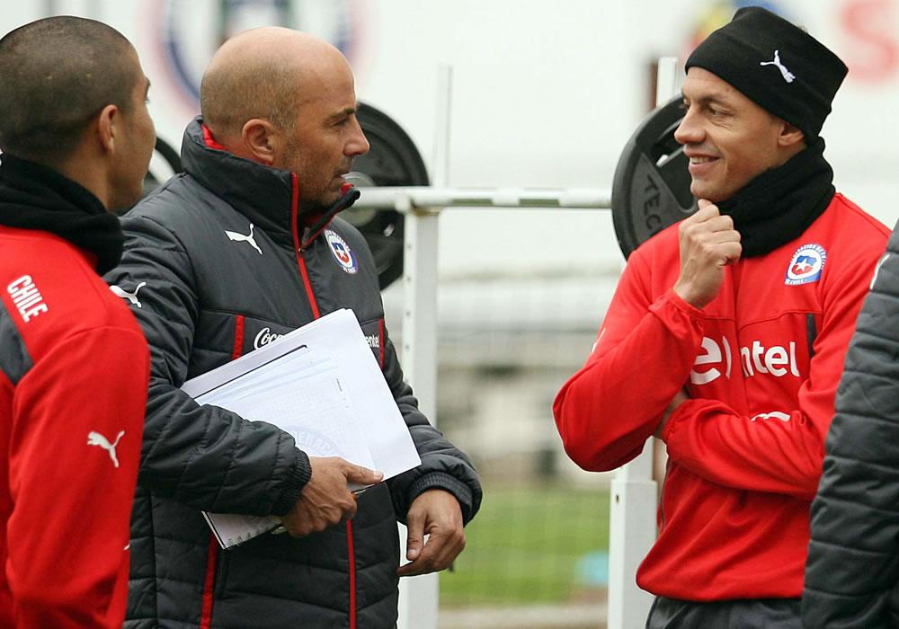 Jorge Sampaoli oficializa que seguirá con la selección de Chile hasta 2018. Foto: EFE