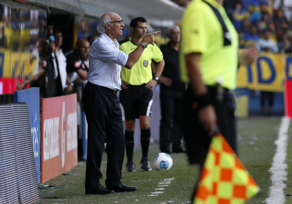Carlos Bianchi probó con Forlín y Calleri para el duelo frente a Belgrano. Foto: EFE/Archivo