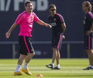 Messi evoluciona positivamente de sus molestias musculares