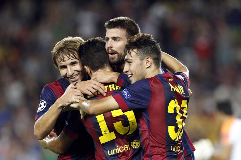 Barsa venció al APOEL en el arranque de la Liga de Campeones