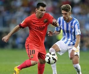 Barsa y Messi tiritan en La Rosaleda ante un buen Málaga