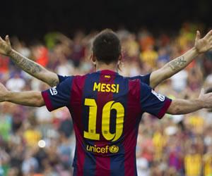 El Barça golea en una gran tarde de Messi