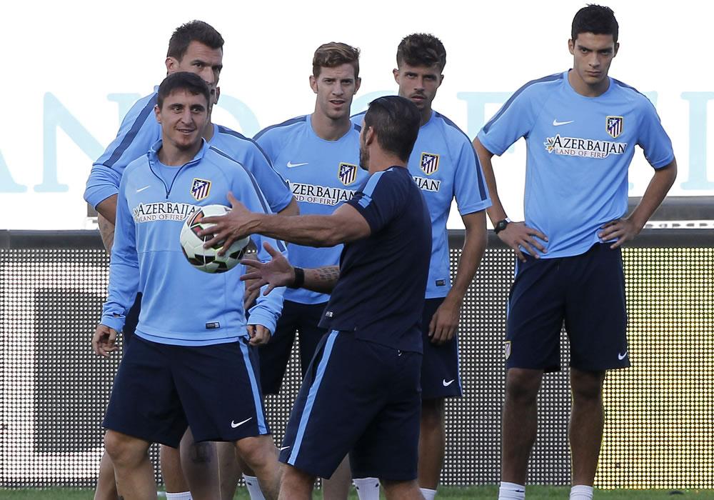 El Atlético de Diego Simeone prepara el duelo contra la Juventus en el Vicente Calderón. Foto: EFE