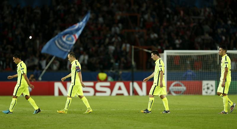 Las imágenes de la derrota del Barsa ante PSG