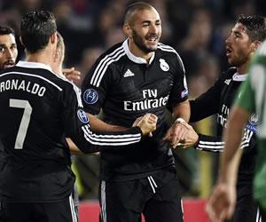 Benzema rescata a un Real Madrid anárquico