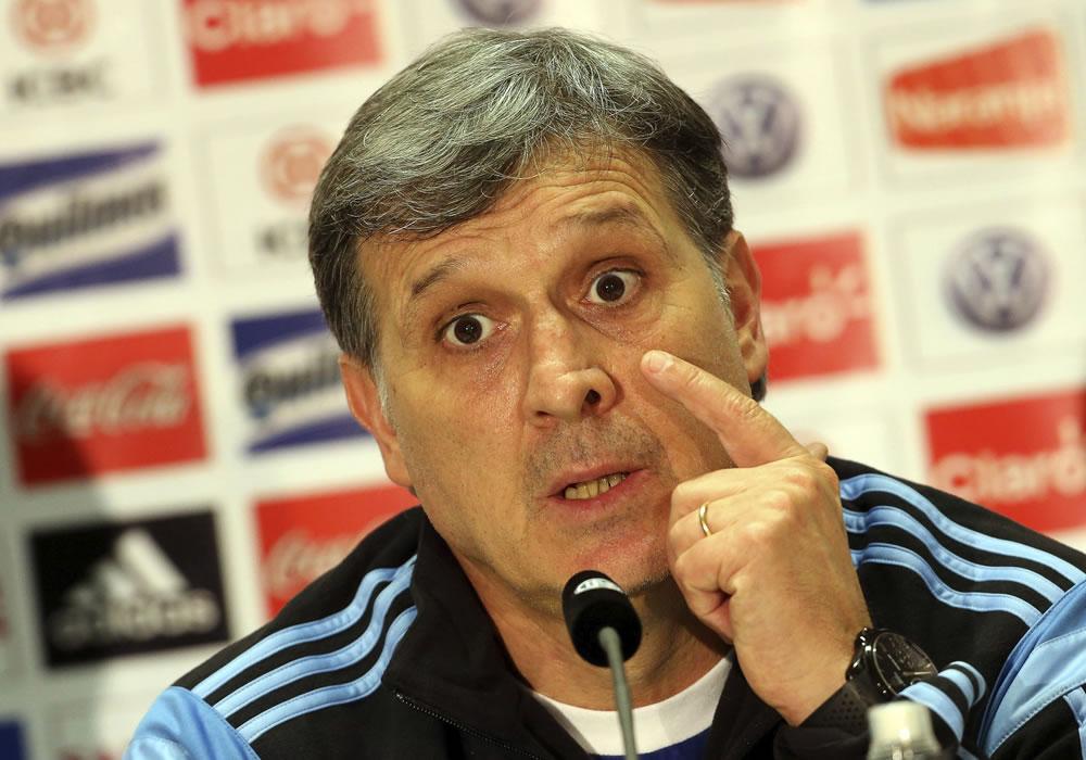 El seleccionador argentino de fútbol, Gerardo 'Tata' Martino. Foto: EFE