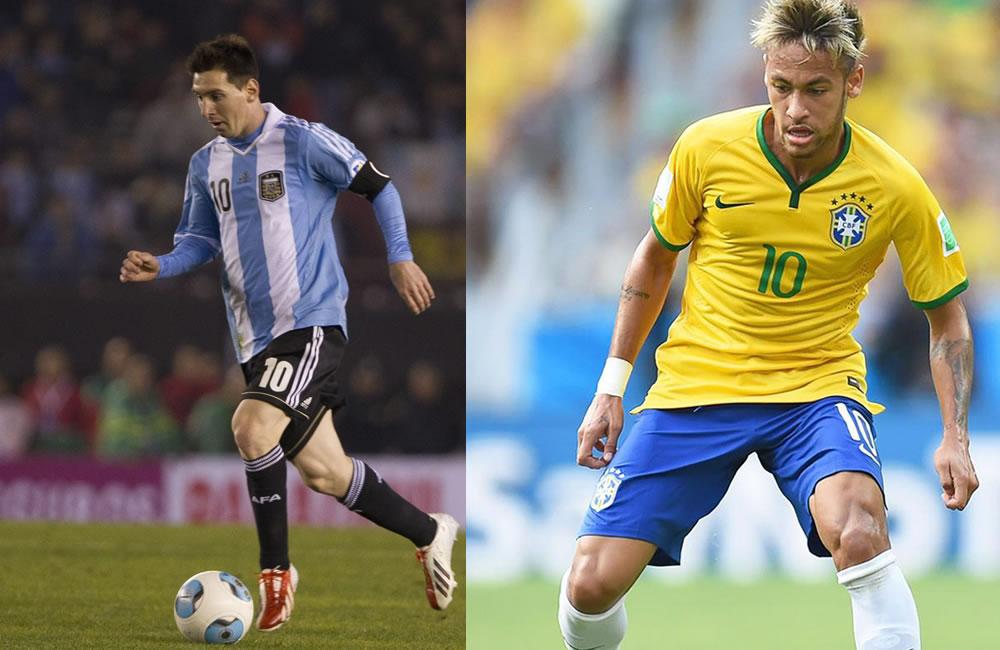 Messi y Neymar los estandartes del superclásico americano en Pekín. Foto: EFE