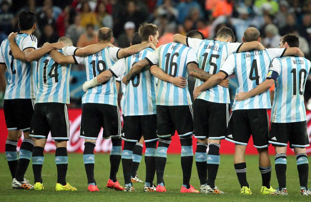 La selección Argentina de fútbol. Foto: EFE