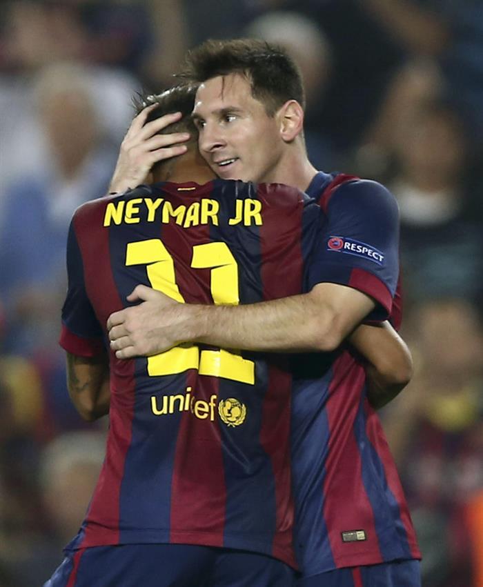Noche mágica de Messi con anotación y asistencia
