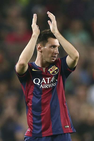 El delantero argentino del FC Barcelona Lionel Messi. EFE