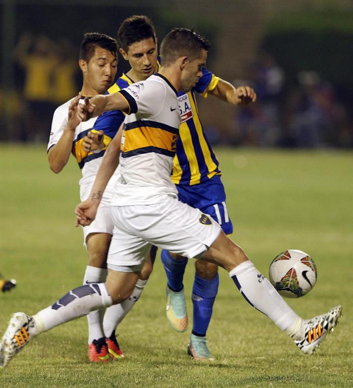 Imágenes de la clasificación de Boca frente a Deportivo Capiatá