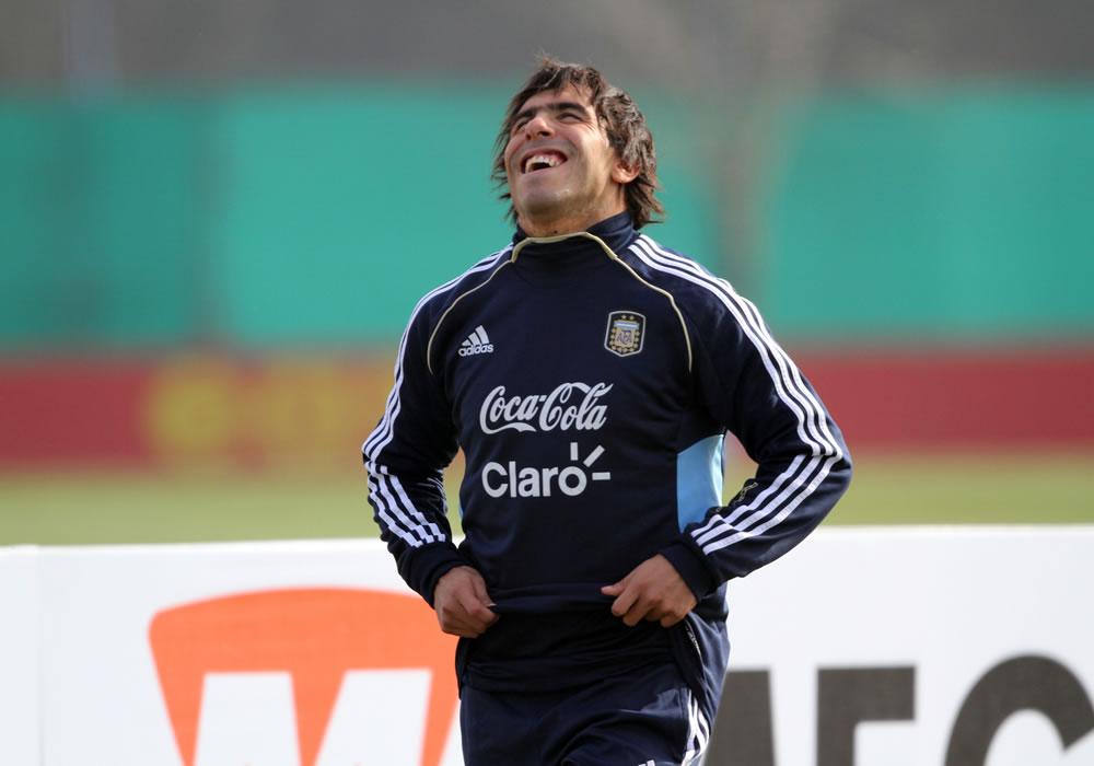 Carlos Tevez, convocado para amistosos de Argentina ante Croacia y Portugal. Foto: EFE