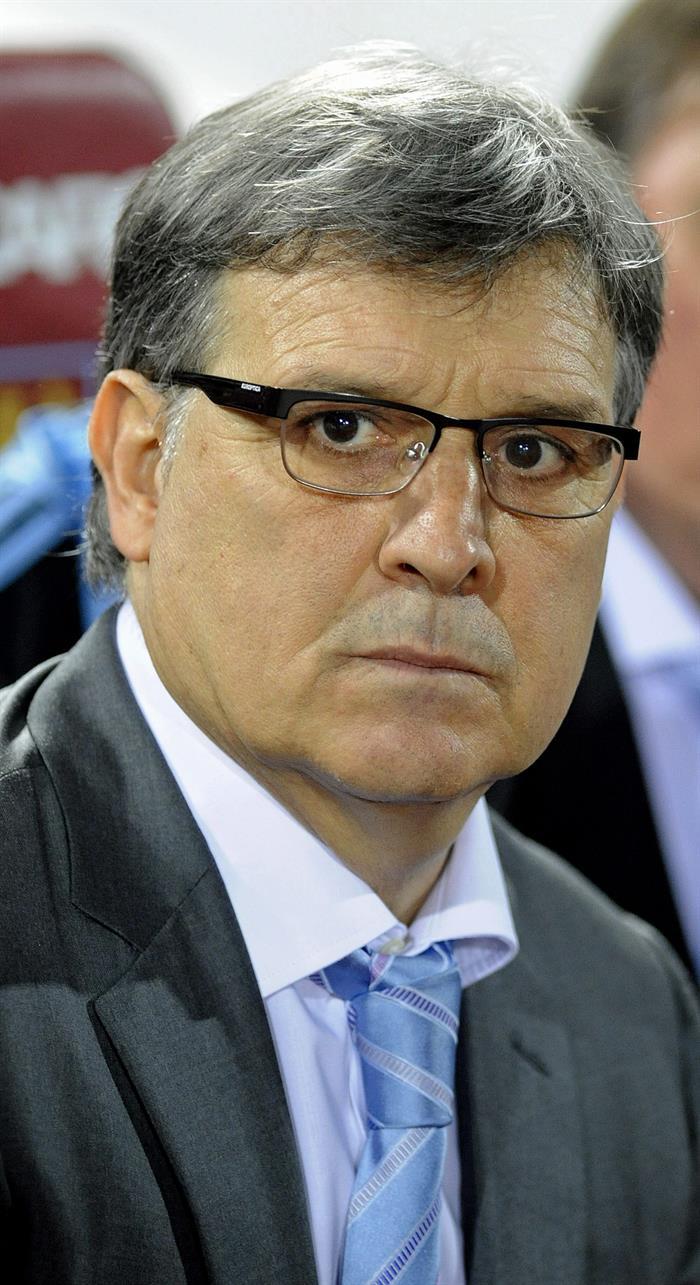 El entrenador de Argentina, Geraldo Martino, previo al inicio de un partido amistoso ante Croacia. EFE
