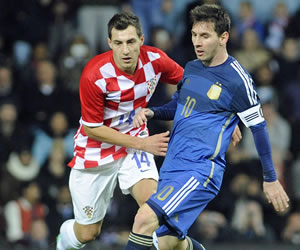 La dupla Messi-Tevez en el triunfo de Argentina frente a Croacia