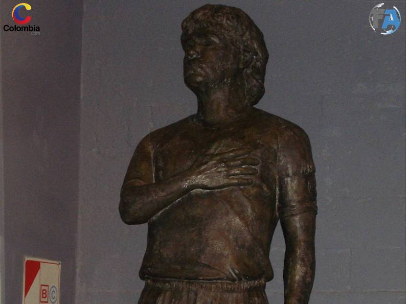Estatua de Diego Armando Maradona. Foto: Colombia.com