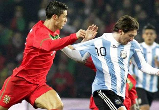 Jugadores Cristiano Ronaldo y Lionel Messi. Foto: EFE