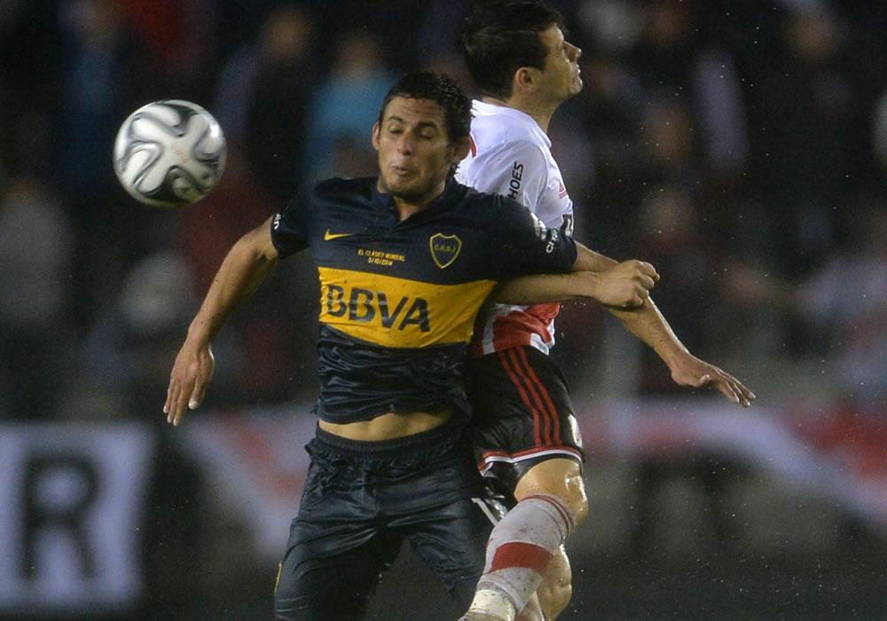 Boca Juniors y River Plate inician su serie superclásica en busca de la final de la Copa Sudamericana. Foto: EFE