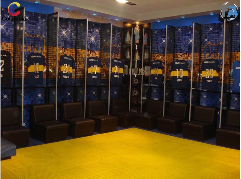 El vestuario de Boca Juniors está a la espera del clásico. Foto: Interlatin