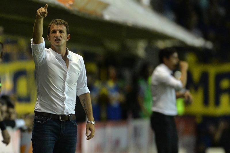 El entrenador de Boca Juniors, Rodolfo Arruabarrena, durante el partido por la semifinal de la Copa Sudamericana. EFE